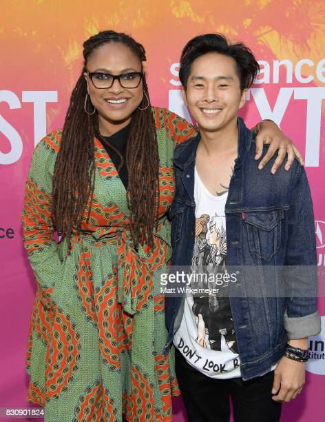 Director Ava DuVernay and writer/director Justin Chon attend the 2017 Sundance NEXT FEST at The Theater at The Ace Hotel on August 12 2017 in Los...