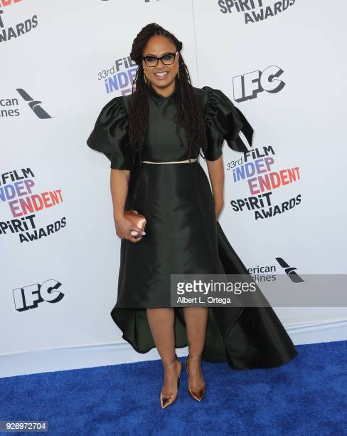 Director Ava DuVernay arrives for the 2018 Film Independent Spirit Awards on March 3 2018 in Santa Monica California