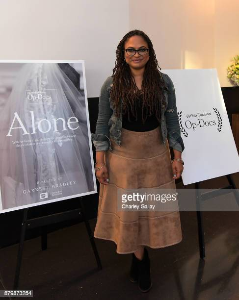 Director Ava DuVernay attends 'Alone' Screening with Ava DuVernay and Director Garrett Bradley Presented by The New York Times OpDocs at NeueHouse...