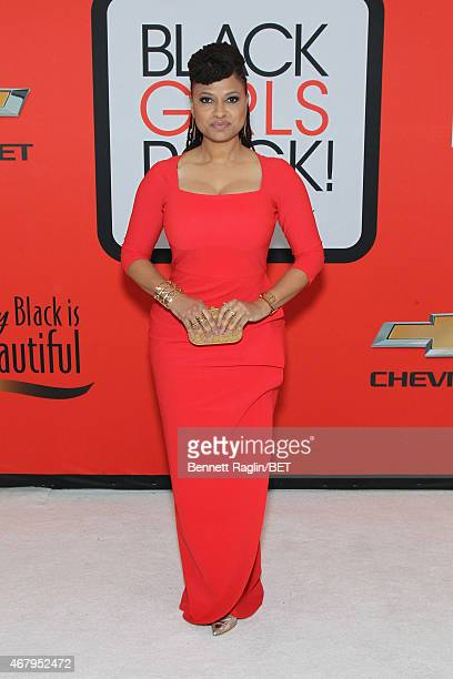 Director Ava DuVernay attends the BET's Black Girls Rock Red Carpet sponsored by Chevrolet at NJPAC – Prudential Hall on March 28 2015 in Newark New...