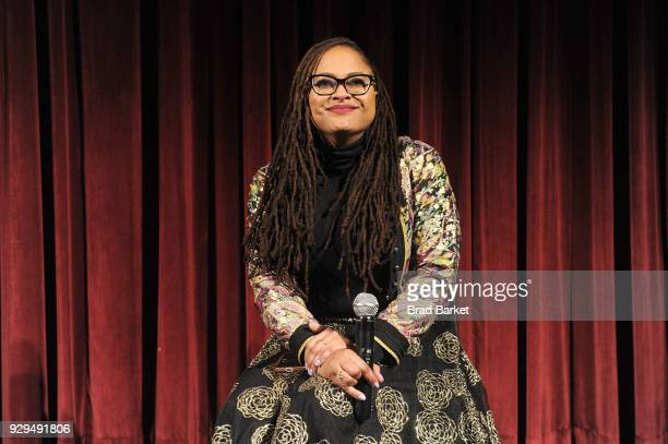 Director Ava DuVernay attends the Official Academy Screening of A WRINKLE IN TIME at MOMA Celeste Bartos Theater on March 8 2018 in New York City
