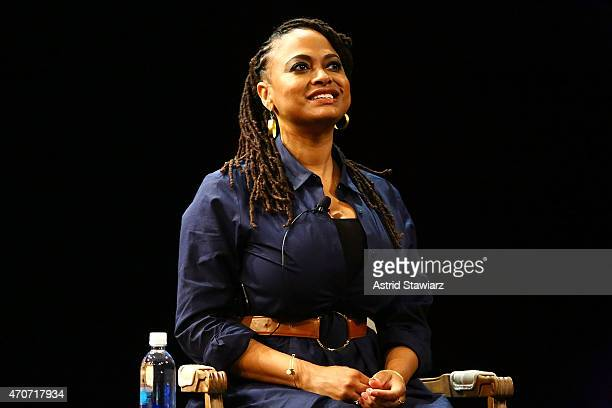 Director Ava DuVernay attends the Tribeca Talks Directors Series Ava DuVernay With QTip during the 2015 Tribeca Film Festival at SVA Theater on April...
