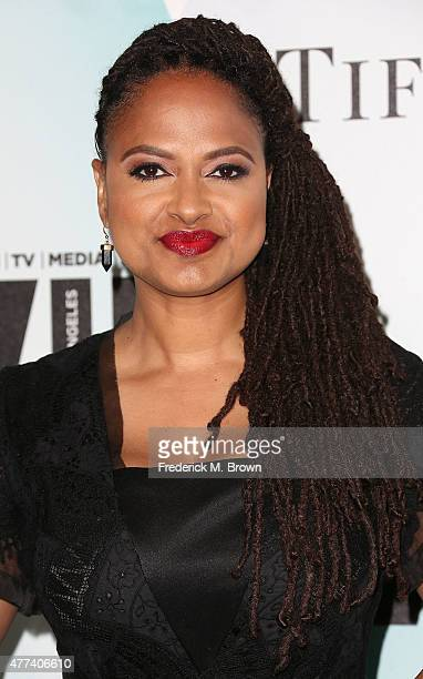 Director Ava DuVernay attends the Women in Film 2015 Crystal Lucy Awards at the Hyatt Regency Century Plaza Hotel on June 16 2015 in Los Angeles...