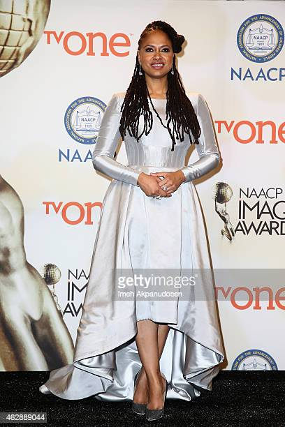 Director Ava DuVernay poses in the press room during the 46th NAACP Image Awards presented by TV One at Pasadena Civic Auditorium on February 6 2015...