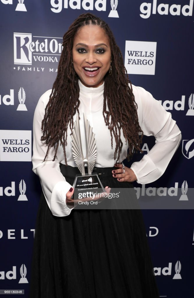Director Ava DuVernay, recipient of the Excellence in Media Award attends the 29th Annual GLAAD Media Awards at The Hilton Midtown on May 5, 2018 in New York City.