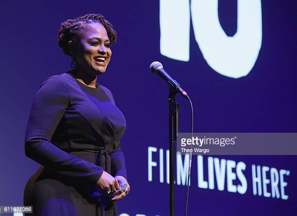 Director Ava DuVernay speaks at the 54th New York Film Festival Opening Night Gala Presentation and '13th' World Premiere with Intro and QA at Alice...