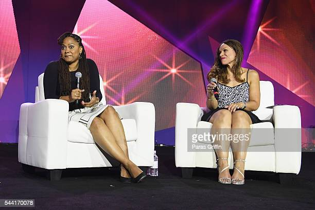 Director Ava DuVernay speaks onstage with Melissa Harris Perry at the 2016 ESSENCE Festival Presented By CocaCola at Ernest N Morial Convention...