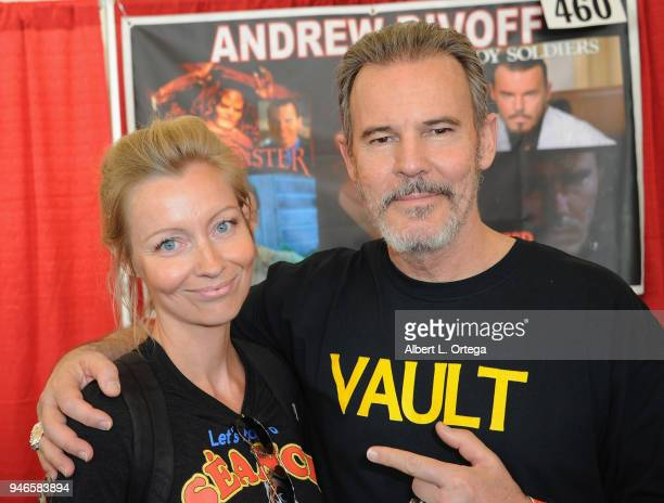 Director Axelle Carolyn and actorAndrew Divoff attend Day 1 of Monsterpalooza held at Pasadena Convention Center on April 14 2018 in Pasadena...