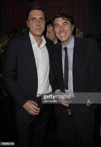 Director Baillie Walsh and musician Bryan Ferry attends the 'Flashbacks Of A Fool' film premiere after party on April 13 2008 in London England