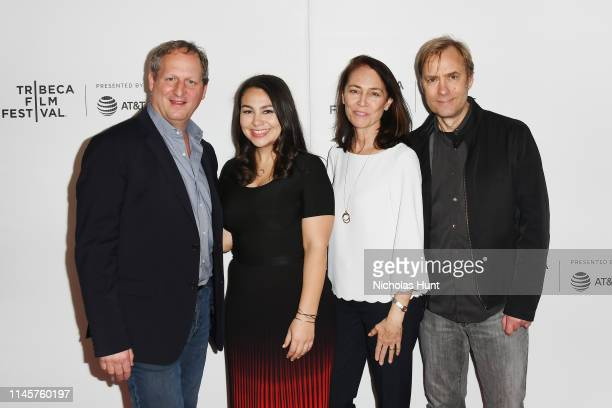 Director Barak Goodman producer Jamila Ephron Susan Bellows and editor Don Kleszy attends the screening for Woodstock Three Days That Defined A...