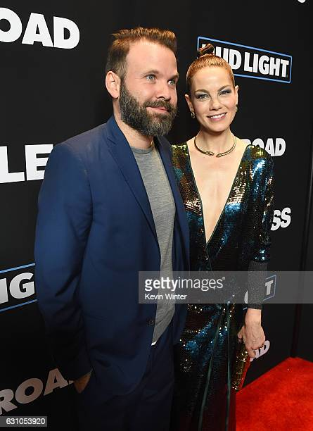 Director Baran Odar and actress Michelle Monaghan arrive at the premiere of Open Road Films' Sleepless at the Regal LA Live Stadium 14 Theatre on...