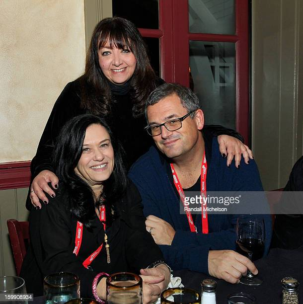 Director Barbara Kopple BMI Executive Doreen RingerRoss and Journalist Phil Gallo attend the BMI Sundance Dinner at Zoom Restaurant on January 22...
