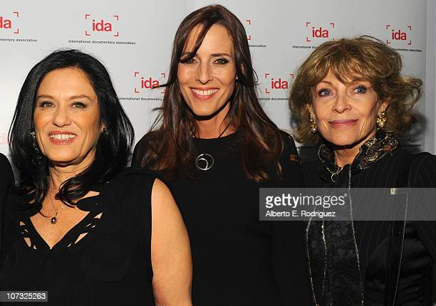 Director Barbara Kopple producer Cecilia Peck and Veronique Peck arrive at the International Documentary Association's 26th annual awards ceremony at...