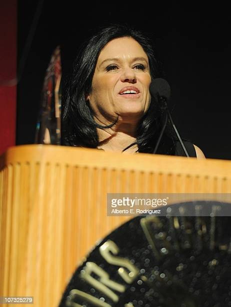 Director Barbara Kopple speaks at the International Documentary Association's 26th annual awards ceremony at the Directors Guild Of America on...