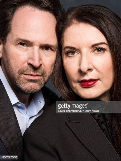 Director Barry Avrich and artist Marina Abramovic are photographed for NY Daily News on April 23 2017 at Tribeca Film Festival in New York City...