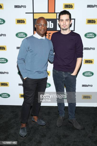 Director Barry Jenkins and director Damien Chazelle attend The IMDb Studio presented By Land Rover At The 2018 Toronto International Film Festival at...