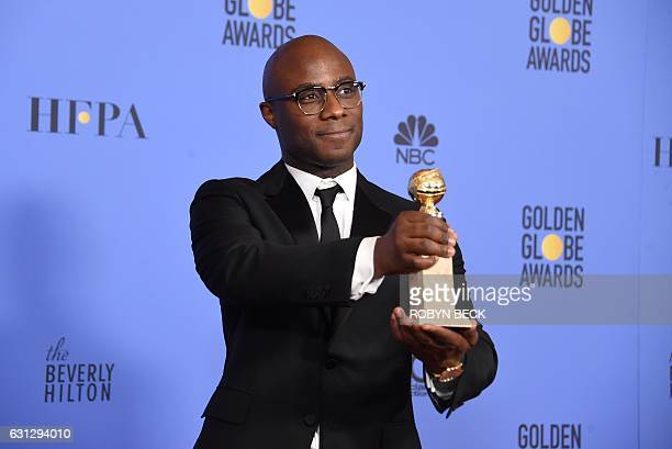 Director Barry Jenkins of Moonlight winner of Best Motion Picture Drama poses in the press room during the 74th Annual Golden Globe Awards at The...