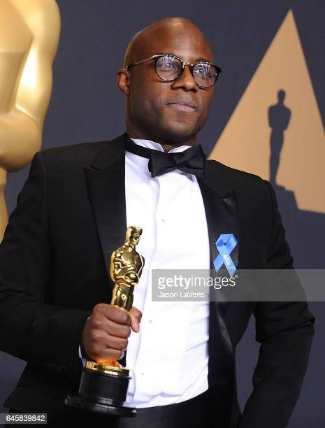 Director Barry Jenkins poses in the press room at the 89th annual Academy Awards at Hollywood Highland Center on February 26 2017 in Hollywood...