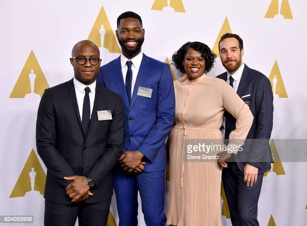 Director Barry Jenkins screenwriter Tarell Alvin McCraney film editors Joi McMillon and Nat Sanders attend the 89th Annual Academy Awards Nominee...