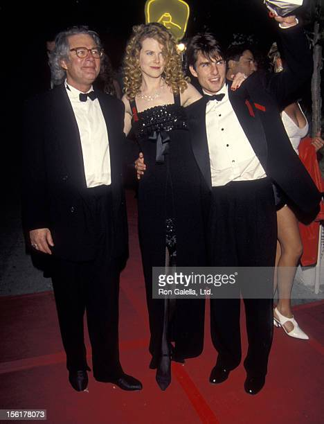 Director Barry Levinson actress Nicole Kidman and actor Tom Cruise attend the 64th Annual Academy Awards After Party Hosted by Irving 'Swifty' Lazar...