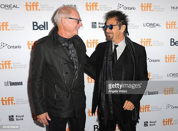 """Director Barry Levinson and actor Al Pacino arrive at """"The Humbling"""" Premiere during the 2014 Toronto International Film Festival at The Elgin on..."""