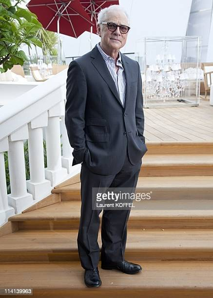 Director Barry Levinson attends the 'Gotti Three Generations' photocall during the 64th Annual Cannes Film Festival at the Salon Martha terrace at...