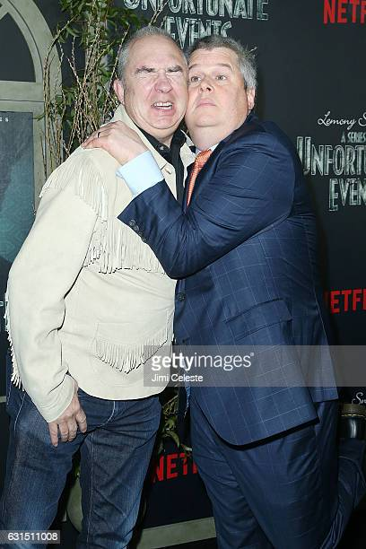 Director Barry Sonnenfeld and Daniel Handler attends NETFLIX Presents the World Premiere of Lemony Snicket's 'A Series of Unfortunate Events' at AMC...