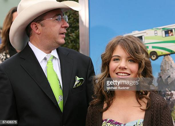 Director Barry Sonnenfeld and daughter actress Chloe Sonnenfeld arrive at Sony Pictures' premiere of RV at the Mann Village Theatre on April 23 2006...