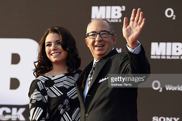 Director Barry Sonnenfeld and daughter Chloe arrive for the Men In Black 3 Germany Premiere at O2 World on May 14 2012 in Berlin Germany