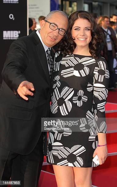 Director Barry Sonnenfeld and daughter Chloe Sonnenfeld attend the Men In Black 3 German premiere at O2 World Muehlenstrasse on May 14 2012 in Berlin...