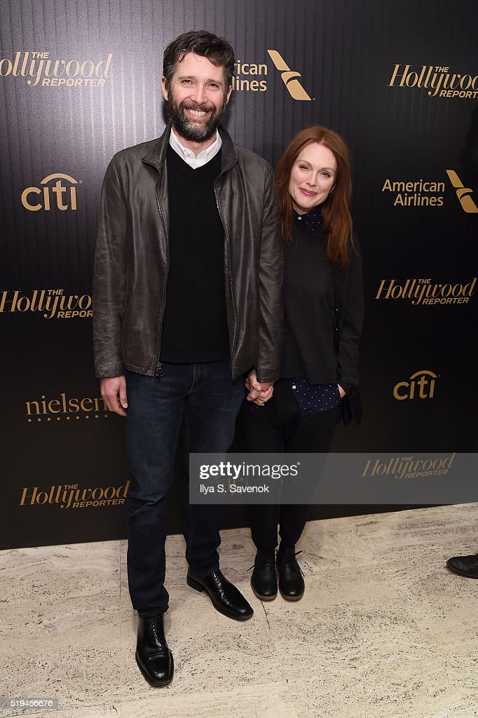 Director Bart Freundlich and actress Julianne Moore attend the Hollywood Reporter's 2016 35 Most Powerful People in Media at Four Seasons Restaurant on April 6, 2016 in New York City.
