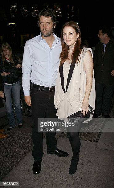 """Director Bart Freundlich and actress Julianne Moore attend The Cinema Society & A Diamond Is Forever screening of """"The Private Lives Of Pippa Lee"""" at..."""