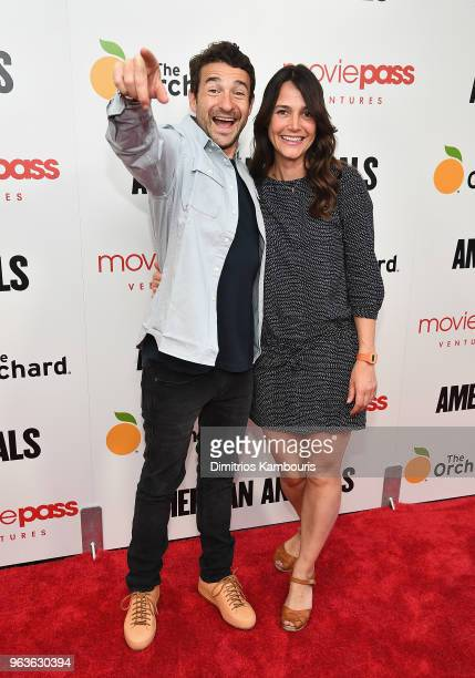 Director Bart Layton and guest attend the American Animals New York Premiere at Regal Union Square on May 29 2018 in New York City