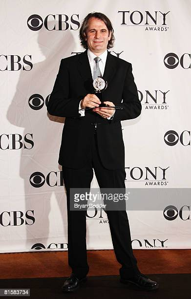 Director Bartlett Sher poses with his Tony for Best Direction of a Musical for 'South Pacific' in the press room during the 62nd Annual Tony Awards...