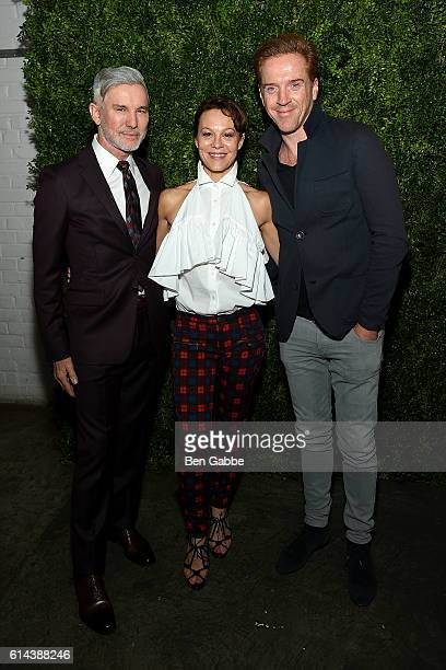 Director Baz Luhrmann actress Helen McCrory and actor Damian Lewis attend the 'Franca Chaos and Creation' New York Screening at Metrograph on October...