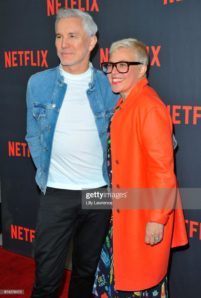 Director Baz Luhrmann and his wife Catherine Martin attend For Your Consideration event for Netflix's 'The Get Down' - Roaming Red Carpet at Saban Media Center on April 27, 2017 in North Hollywood, California.