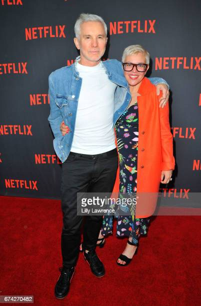 Director Baz Luhrmann and his wife Catherine Martin attend For Your Consideration event for Netflix's 'The Get Down' Roaming Red Carpet at Saban...