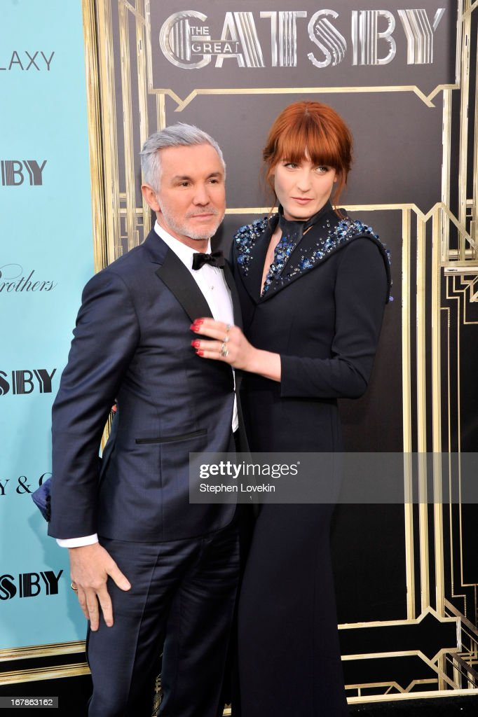 Director Baz Luhrmann and musician Florence Welch attend the 'The Great Gatsby' world premiere at Avery Fisher Hall at Lincoln Center for the Performing Arts on May 1, 2013 in New York City.
