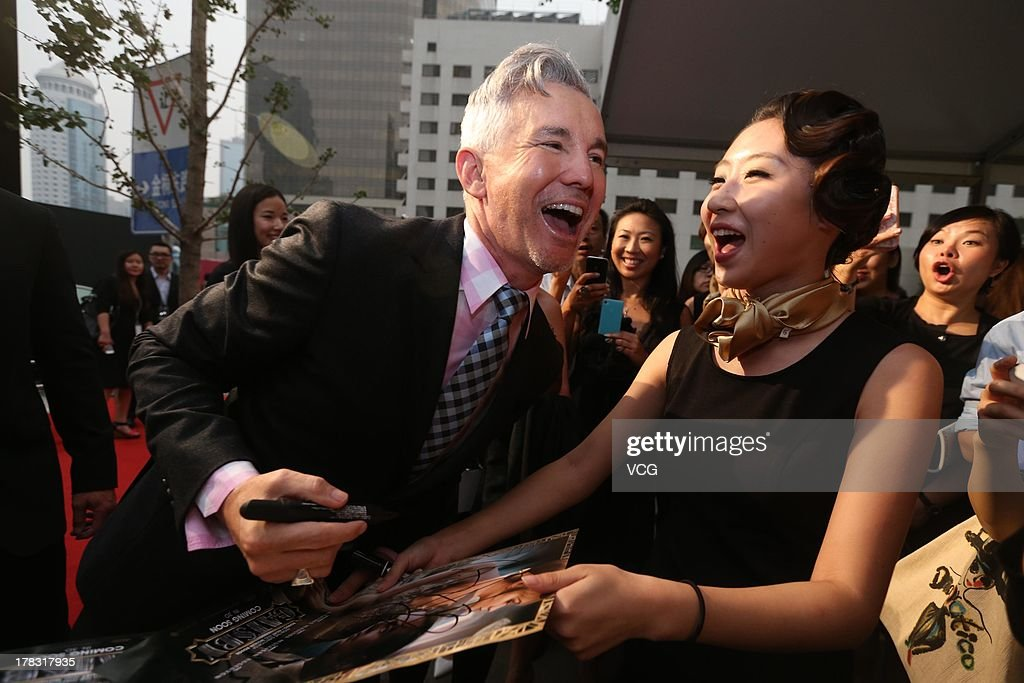 Director Baz Luhrmann attends 'The Great Gatsby' premiere at China World Trade Center Tower 3 on August 28, 2013 in Beijing, China.