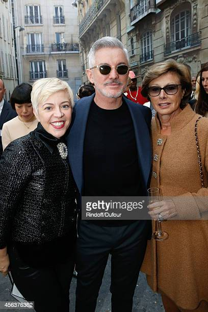 Director Baz Luhrmann his wife Catherine Martin and MarieLouise de Clermont Tonnerre attend the Chanel show as part of the Paris Fashion Week...