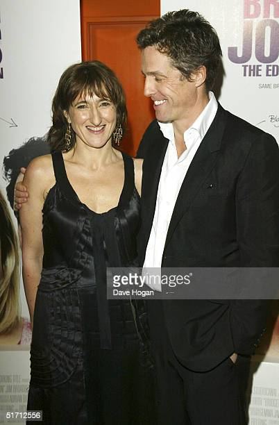 Director Beeban Kidron and actor Hugh Grant arrive at the UK Gala Premiere of Bridget Jones The Edge Of Reason at the Odeon Leicester Square on...