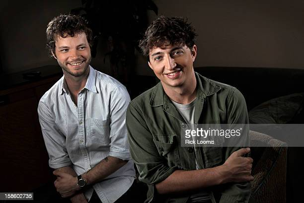 Director Behn Zeitlin and cinematographer Ben Richardson are photographed for Los Angeles Times on October 23 2012 in Beverly Hills California