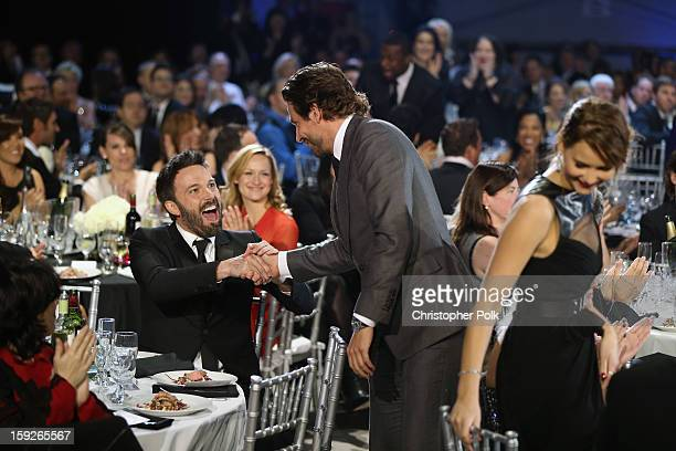 Director Ben Affleck and actor Bradley Cooper attend the 18th Annual Critics' Choice Movie Awards held at Barker Hangar on January 10 2013 in Santa...