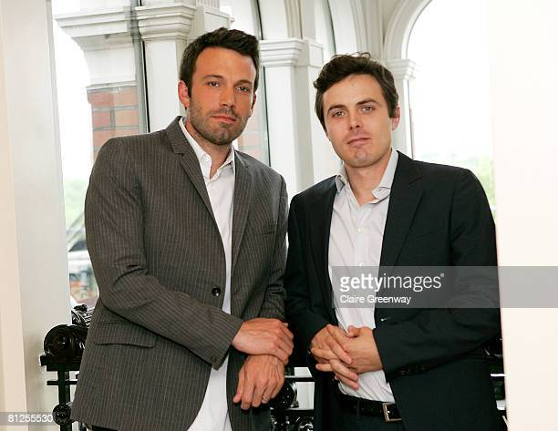 Director Ben Affleck and actor Casey Affleck attend a photocall to promote the film 'Gone Baby Gone' at the Mandarin Oriental on May 28 2008 in...