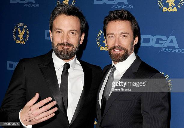 Director Ben Affleck and actor Hugh Jackman attend the 65th Annual Directors Guild Of America Awards at The Ray Dolby Ballroom at Hollywood Highland...