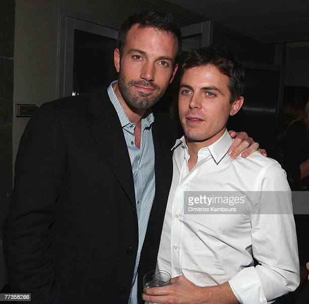 Director Ben Affleck and Casey Affleck attend the after party for The Cinema Society and Details Magazine Screening of Gone Baby Gone at the SoHo...