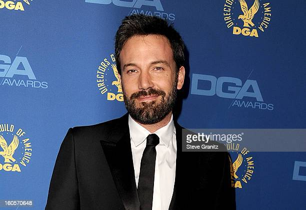 Director Ben Affleck attends the 65th Annual Directors Guild Of America Awards at The Ray Dolby Ballroom at Hollywood Highland Center on February 2...