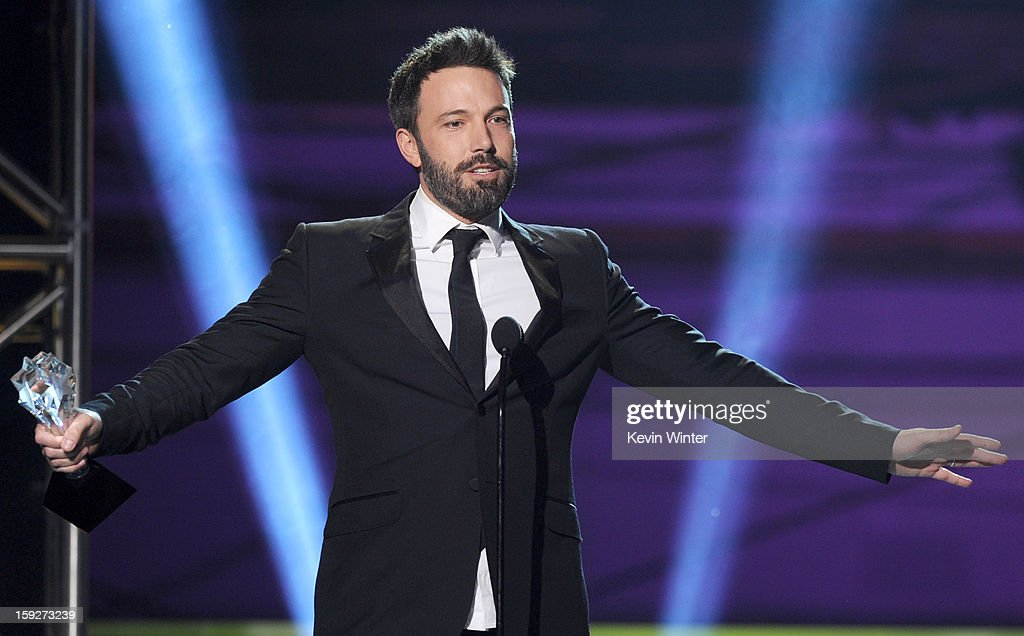 Director Ben Affleck onstage at the 18th Annual Critics' Choice Movie Awards held at Barker Hangar on January 10, 2013 in Santa Monica, California.