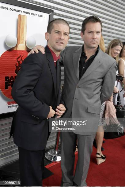 director Ben Garant and Thomas Lennon at the Los Angeles Premiere of Balls of Fury at the Egyptian Theatre on August 25 2007 in Hollywood California