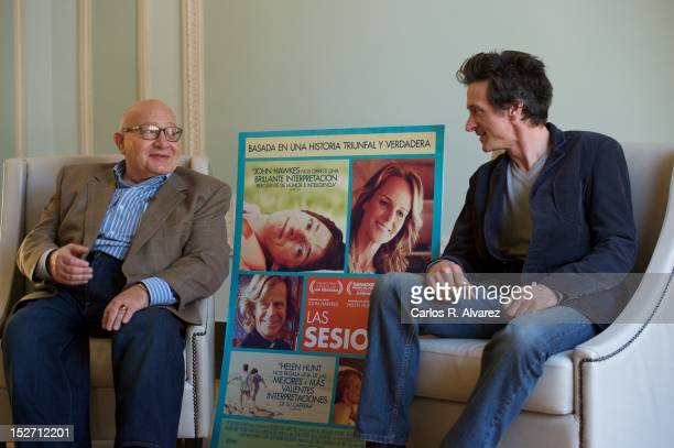 Director Ben Lewin and actor John Hawkes attend the The Sessions photocall at Maria Cristina Hotel during the 60th San Sebastian International Film...